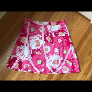 Lilly Pulitzer Floral A-line Skirt, size 10